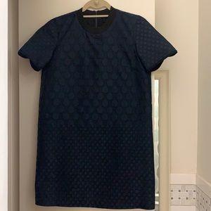 Madewell Short Sleeve Navy and Black Dress - M